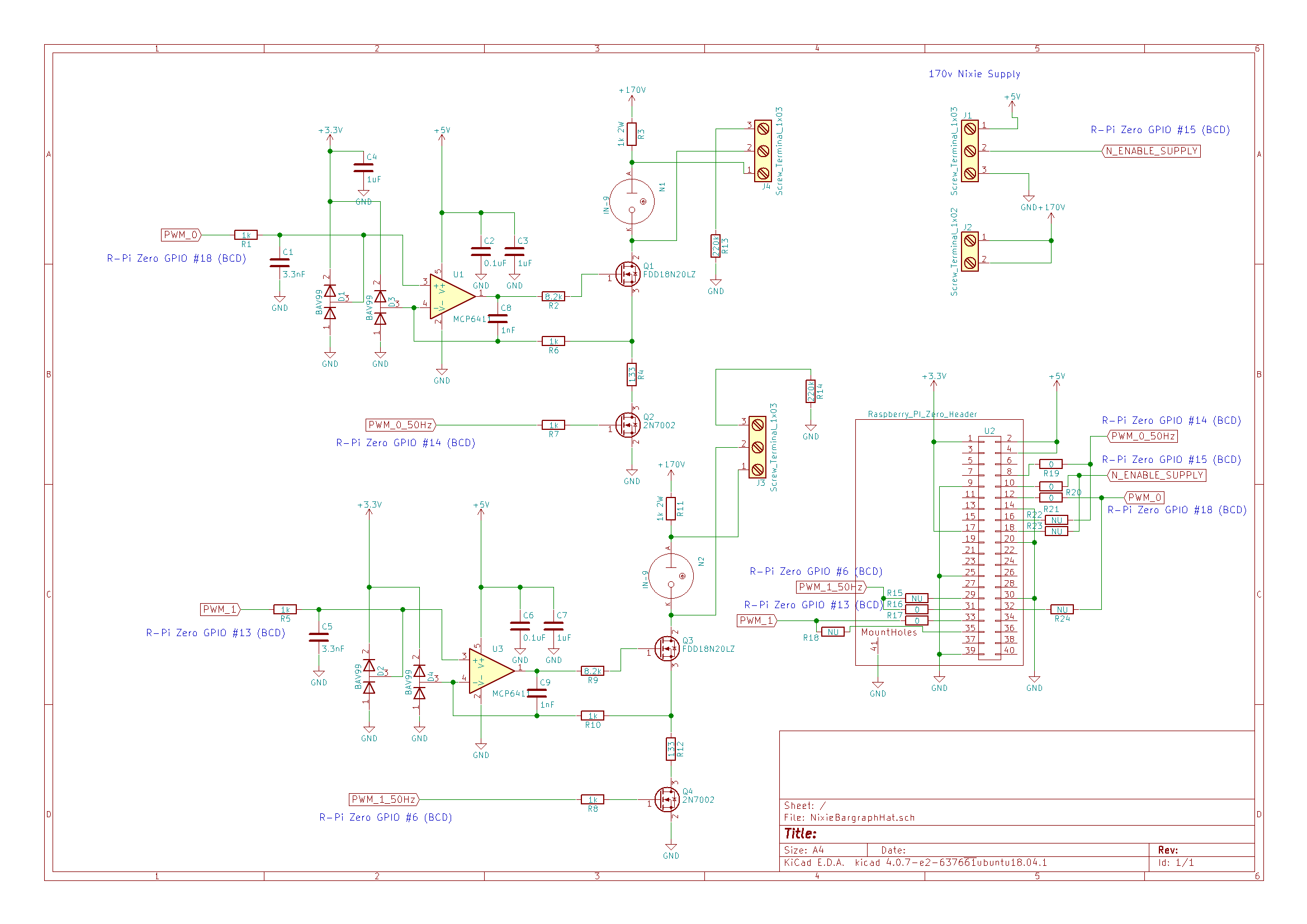 Help Design A Linear Nixie Tube HAT for the Raspberry Pi ... on